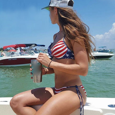 American Flag Two Piece Bathing Suit