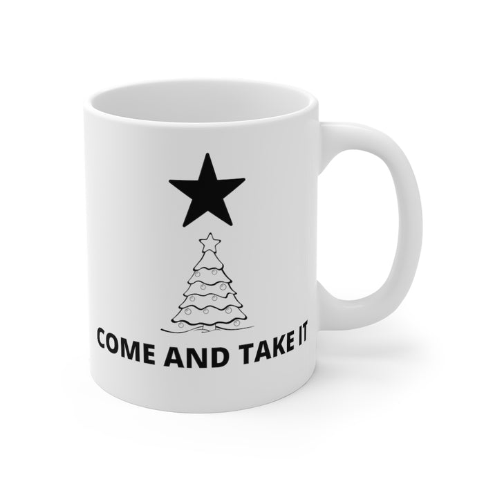 Come And Take It Christmas Tree Mug 11oz