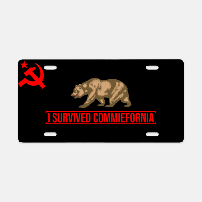 I Survived Commiefornia License Plate