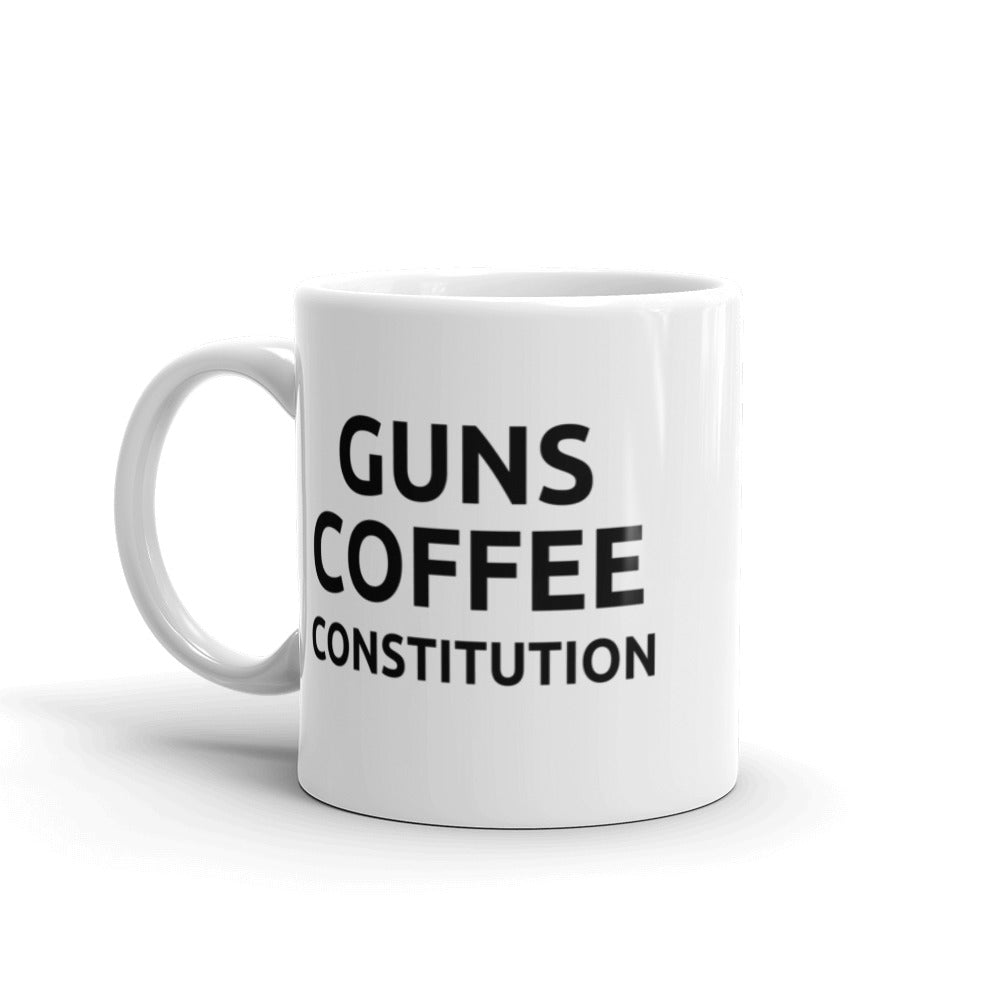 GUNS COFFEE CONSTITUTION - Coffee Mug - *Limited