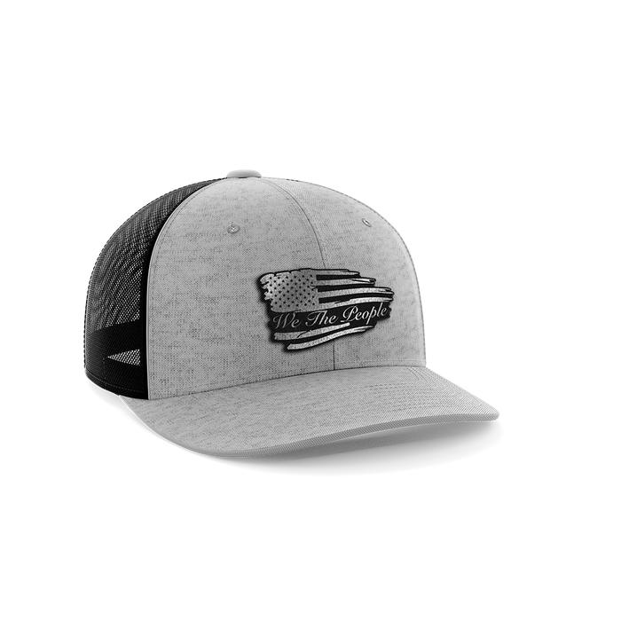 Torn Flag We The People Leather Patch Hat