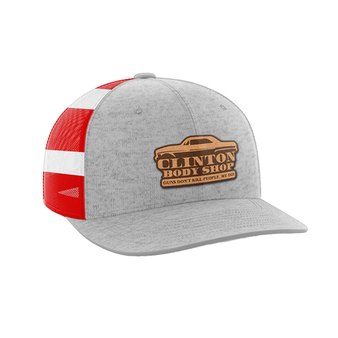 Image of Clinton Body Shop Leather Patch Hat