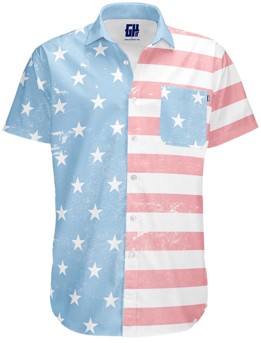 Faded Old Glory Button Down