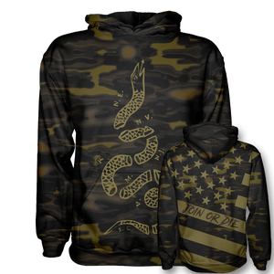 Join or Die Gold Camo Hoodie