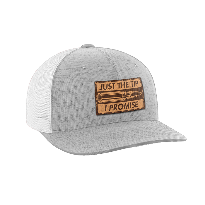 Just The Tip, I Promise Leather Patch Hat