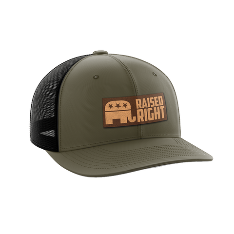 Image of Raised Right Leather Patch Hat