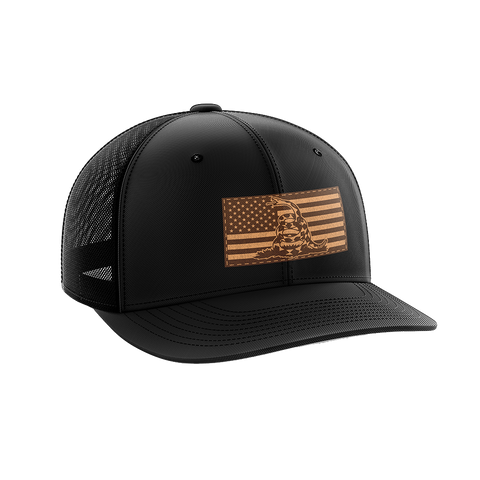 Image of Don't Tread On Me Leather Patch Hat