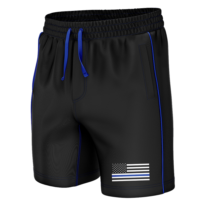 Thin Blue Line Swim Trunks