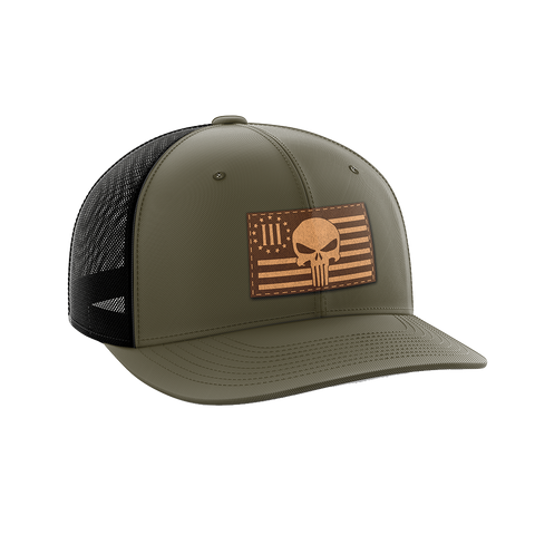 Image of 3 Percenter Leather Patch Hat