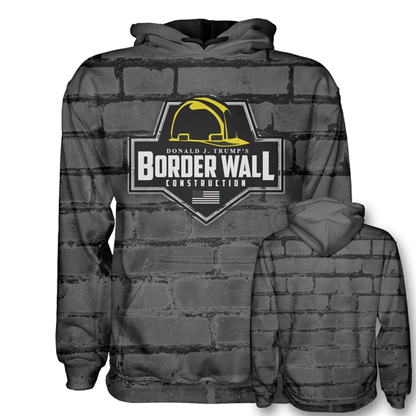 Border Wall Construction Hoodie
