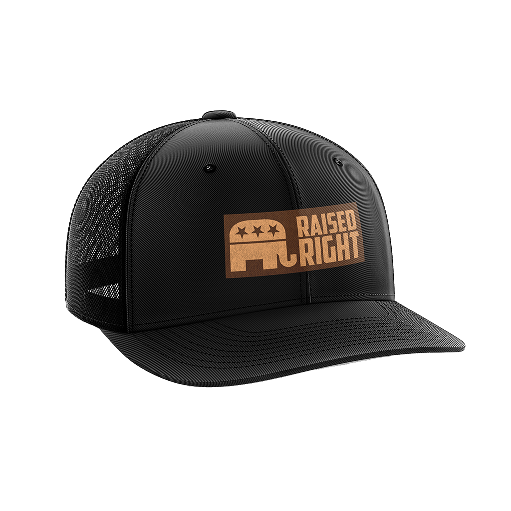 Raised Right Leather Patch Hat