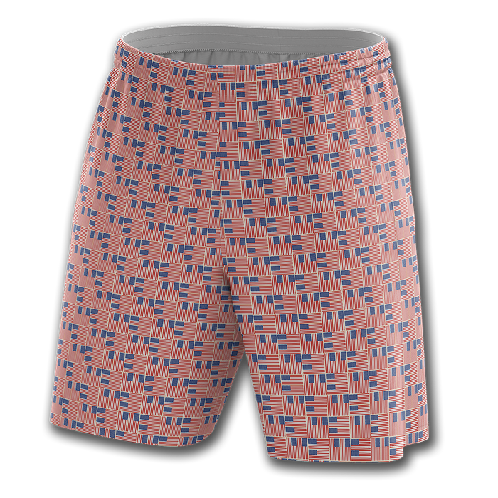 Woven Flag Pattern Shorts