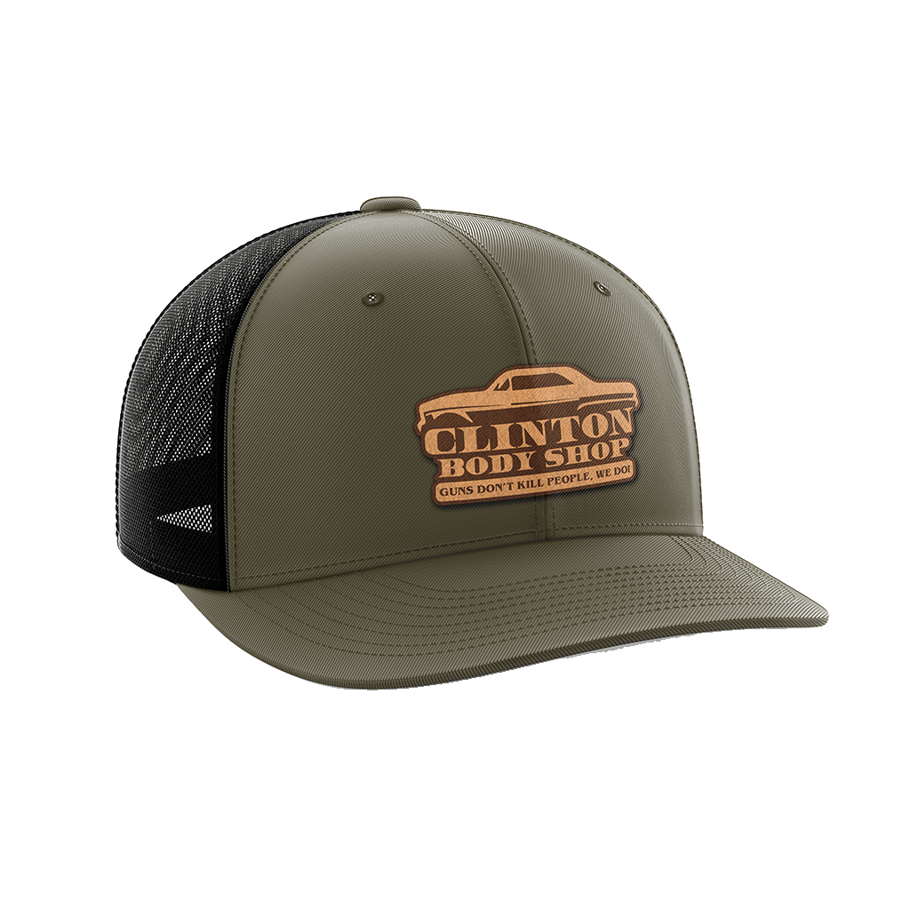Clinton Body Shop Leather Patch Hat