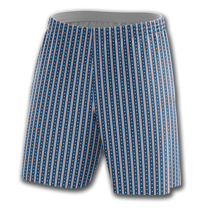 Blue Vertical Star Shorts