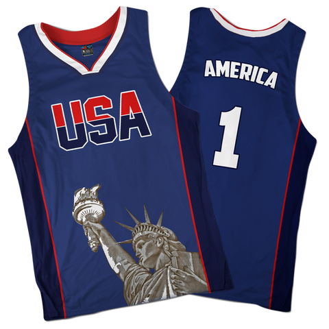 Image of America #1 Basketball Jersey