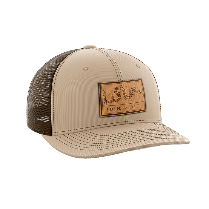 Join or Die Leather Patch Hat