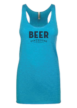 Load image into Gallery viewer, BEER RACERBACK TANK - WOMEN'S CUT