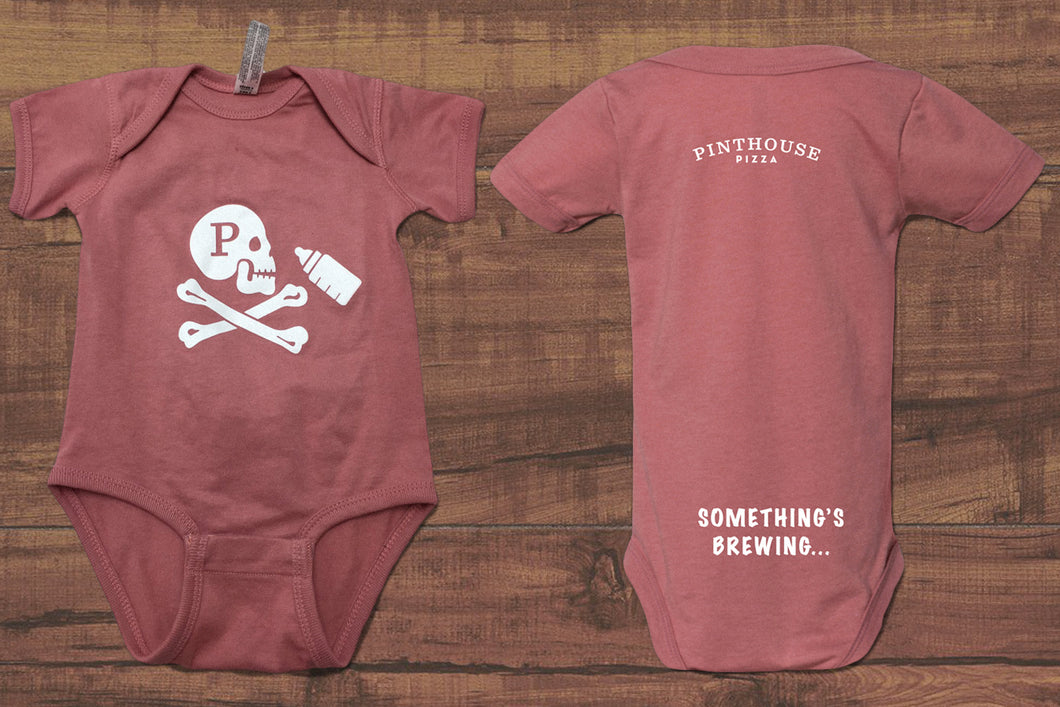 JOLLY ROGER BABY ONESIE - MAUVELOUS