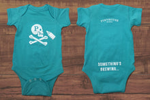 Load image into Gallery viewer, JOLLY ROGER BABY ONESIE - CARIBBEAN BLUE