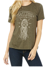Load image into Gallery viewer, ELECTRIC JELLYFISH OLIVE TEE - WOMEN'S CUT
