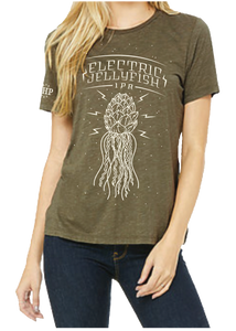 ELECTRIC JELLYFISH OLIVE TEE - WOMEN'S CUT