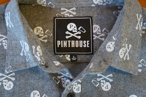JOLLY ROGER CHAMBRAY BUTTON-UP SHIRT