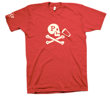 Load image into Gallery viewer, JOLLY ROGER VINTAGE RED TEE