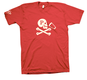 JOLLY ROGER VINTAGE RED TEE