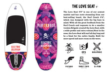 Load image into Gallery viewer, THE LOVE SEAT 5' ELECTRIC JELLYFISH BRIGADE WAKE SURFBOARD