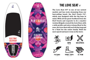 THE LOVE SEAT 5' ELECTRIC JELLYFISH BRIGADE WAKE SURFBOARD