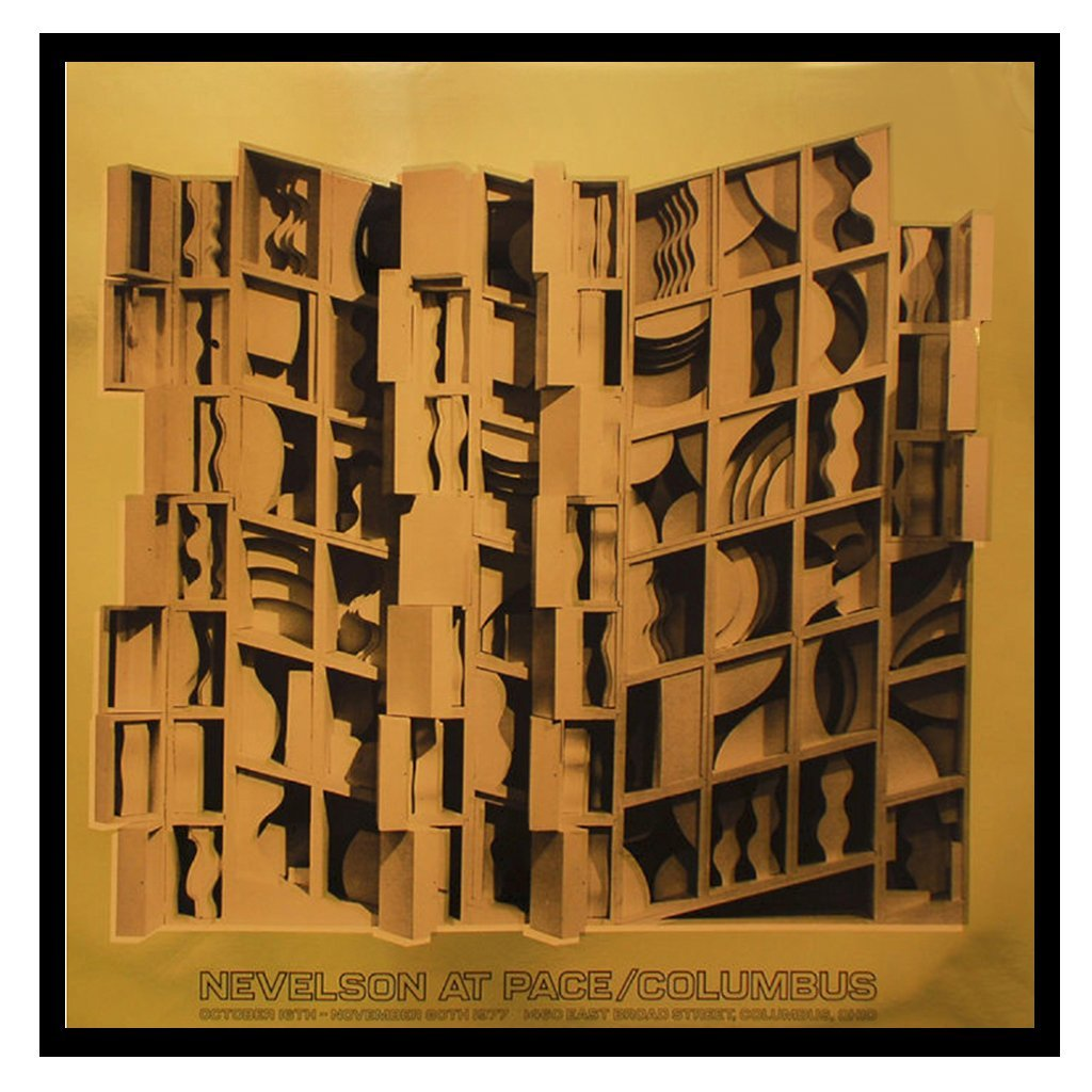 Gerahmte Reproduktion Louise Nevelson Gold - Vandeley