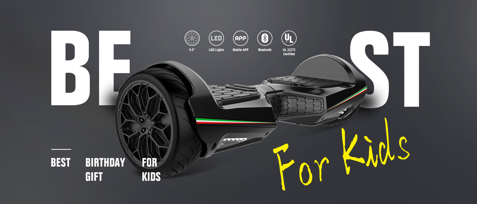 "6.5"" Lamborghini hoverboard - Best Birthday Gift for Kids"