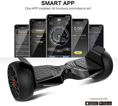 "8.5"" Off Road Glyboard Corse Hoverboard with APP (with Two Dots LOGO)"