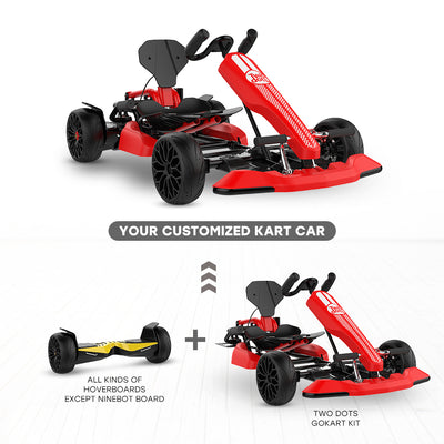 Convert hoverboard to Red Go kart
