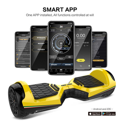 "TwoDots Glyboard Veloce 6.5"" All Terrain Hoverboard"