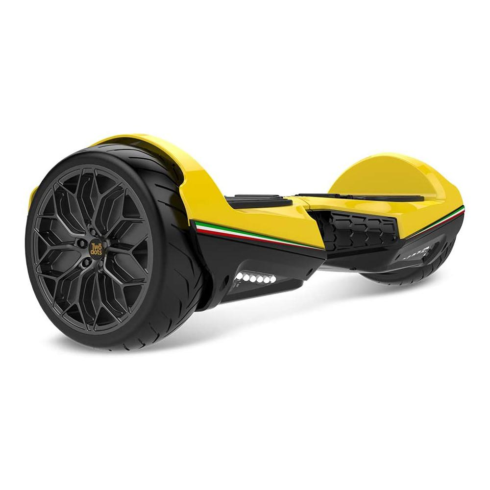 "Two Dots Glyboard Veloce 6.5"" All Terrain Hoverboard with LED - Yellow"