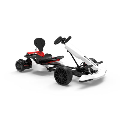 White Go Kart and Hoverboard