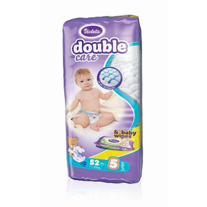 Violeta dječje pelene Double care AIR DRY JUNIOR-5 jumbo (11-25 kg., 52 kom) - gratis baby maramice - Sold out