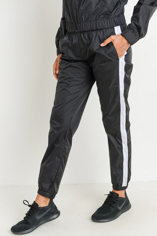 Mono B Striped Waterproof Joggers