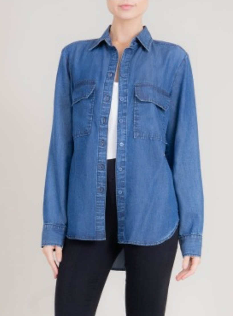 Level 99 Zaden Chambray Button Up