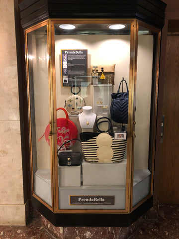 PrendaBella window display at Chicago's Historic Drake Hotel