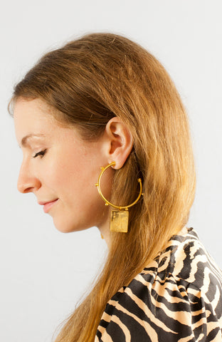 Large Mystic Gold Hoop Earrings