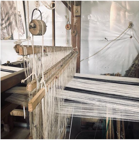 Weaving of Pima cotton in Perú