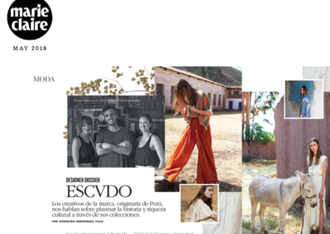 Escvdo featured in Marie Claire Magazine