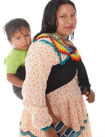 Embera with child