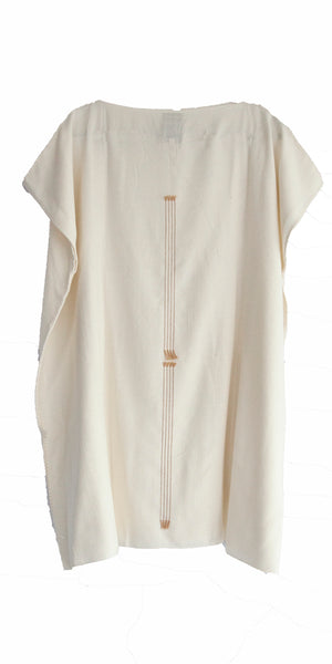 Pima cotton white mini summer dress sustainable