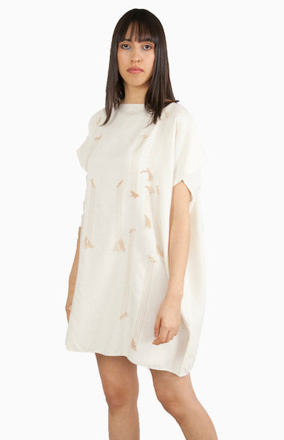 White mini Pima cotton summer dress