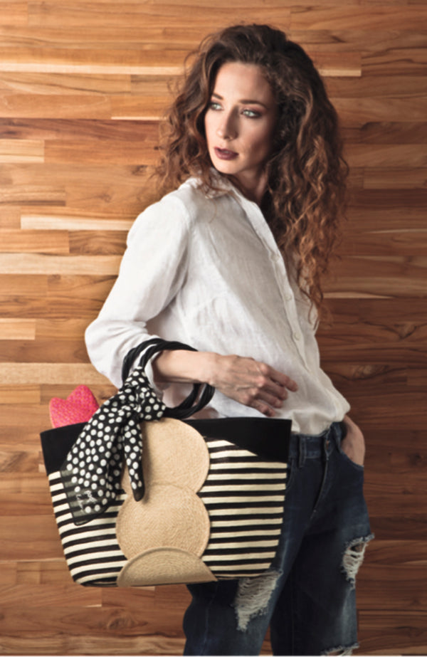 Cañamo Straw and Leather Trimmed Tote Bag