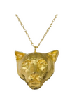 24K carat gold plated cat  charm on fine gold chain, sustainable and fair trade