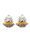 Athenea golden crystal earrings with Murano and Miyuki glass beads